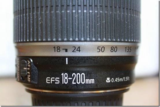 EFS 18-200mm レンズ