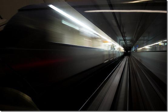地下鉄で流し撮り