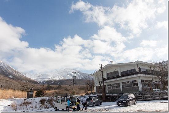 九重の雪山