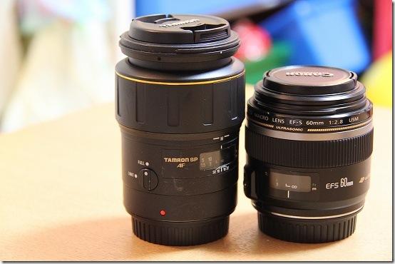 CANON EF-S 60mm と TAMRON SP 90mm マクロレンズを比較(その1)