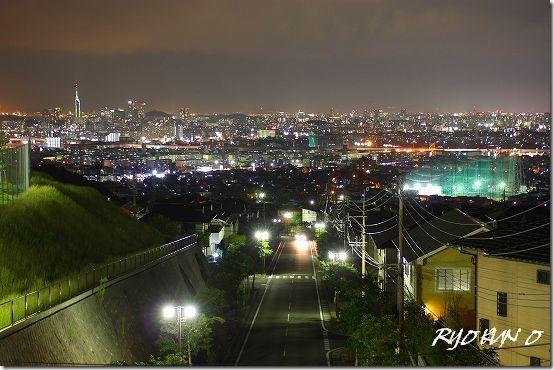 福岡の夜景をホワイトバランス変えて撮ってみた