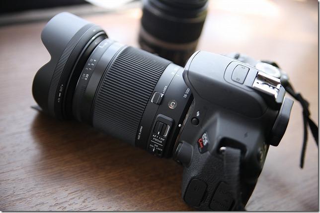 EOS KISSにSIGMA18-300mm装着