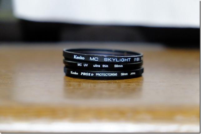 レンズ保護フィルターを比較(Kenko PRO1Dと格安保護フィルター)