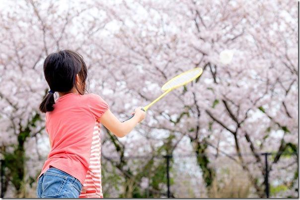 子供と桜、X-T1とXF90mm