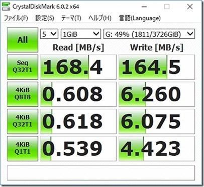Seagate/4TBのHDDベンチマーク