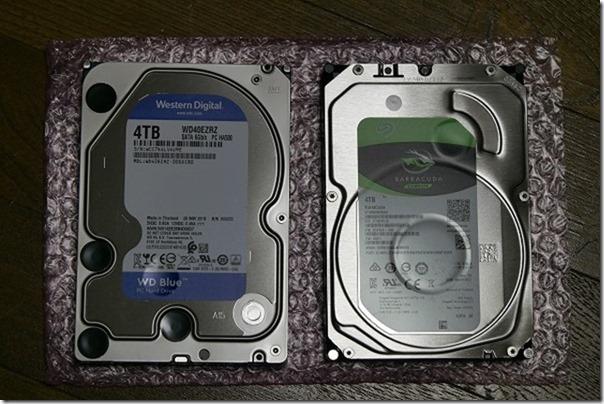 WD/Seagateの4TB,HDD