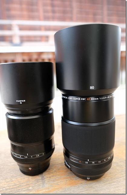 フジノンレンズ、XF80mmとXF90mmを比較レビュー