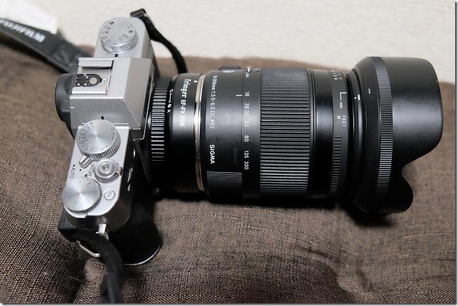 SIGMA18-200mmをFringer,EF-FX1でFujifilmX-T20に使用