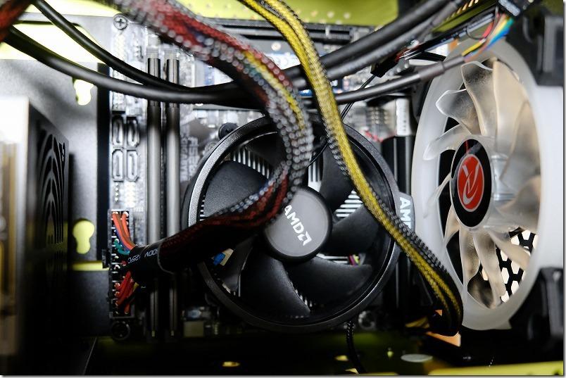 METIS、PLUS(グリーン)のケースへATXケーブル取り付け