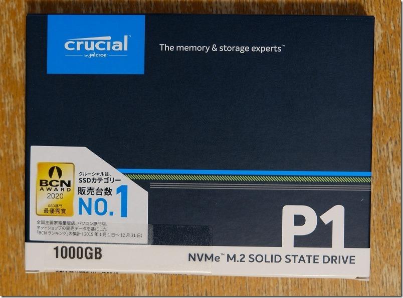 SSD換装用、Crucial、SSD、M.2、1000GB、P1シリーズ、Type2280、PCIe3.0x4 NVMe