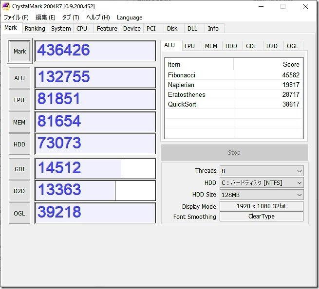 Ryzen3,3100ベンチマーク