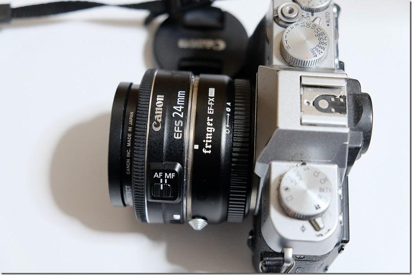 CANON,EF-S,24mm,F2.8,STMをマウントアダプタでFUJIFILM(X-T20)で利用
